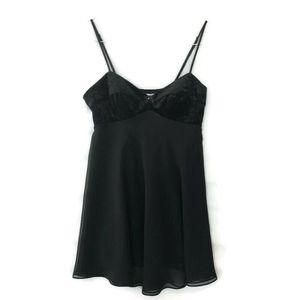 VS Small Black Slip Teddy Nightgown